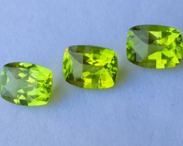 4.00 cts High Best Natural Green Pakistan Peridot 3 pcs
