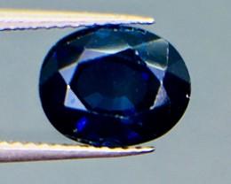 1.02 Ct Magnificent Top Color Sparkling Intense Blue Sapphire ~ 5