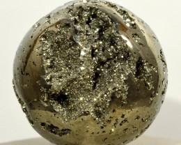 43mm Golden Pyrite Sphere Druzy Geode Crystal Ball - Peru (STPY-PA202)