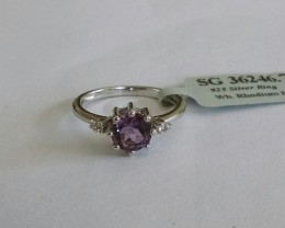 Amethyst 925 sterling silver ring #246