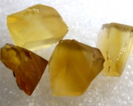 32.8CTS CITRINE ROUGH 4PCS PARCEL RG-2561