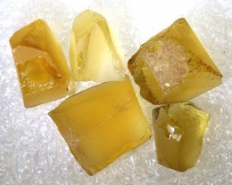 34.4CTS CITRINE ROUGH 5PCS PARCEL RG-2563