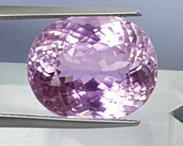 14.60cts, Kunzite,  Luminous,  Top Cut, Eye Clean