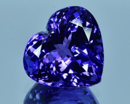 11.23 Cts Excellent Lovely Heart Shape Natural Tanzanite