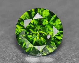 0.13 Cts Natural Green Diamond Round Africa