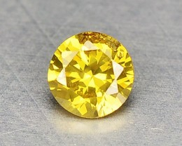 0.07 Cts Natural Yellow Diamond Round Africa