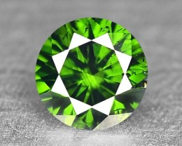 0.09 Cts Natural Green Diamond Round Africa