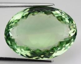 34.89 Cts Natural Green Amethyst/Prasiolite Oval Cut Brazil Gem