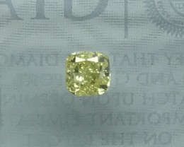 GIA CERTIFIED INTENSE YELLOW FANCY DAIMOND TOP QUALITY