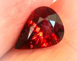 2.57ct Orange Red Spessartite Garnet Beautiful fire