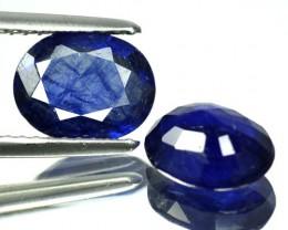 3.53 Cts Blue Sapphire Oval 2 Pcs Thailand Gem