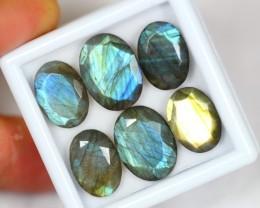 Lot 09 ~ 34.66Ct Natural Yellow / Blue Color Labradorite