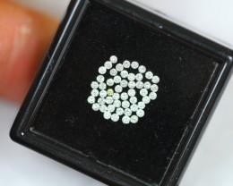 Lot 10 ~ 0.50Ct Natural VS-SI Clarity E-G Color White Diamond 1.3mm
