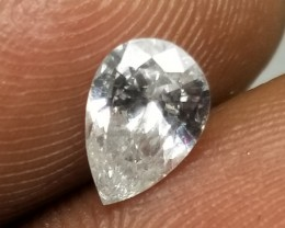 Stunning IGL Certified $2962 Natural 0.77ct. Pear Shape White Diamond