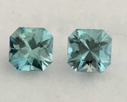 Touch of Green Glowing Archer Cut 5.5 mm Zircon Pair, Cambodia, A1834