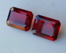 4.65 Cts Natural Unheated red Rhodolite Garnet 2 pcs