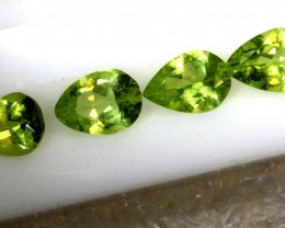 3CTS PERIDOT NATURAL FACETED PARCEL 4PCS TBG-2604