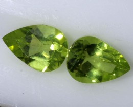 1.45PERIDOT NATURAL FACETED STONE PAIR TBG-2607