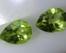1.4PERIDOT NATURAL FACETED PAIR TBG-2608