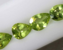 3.1PERIDOT NATURAL FACETED PARCEL 4PCS TBG-2609