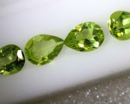 2.85CTS PERIDOT NATURAL FACETED PARCEL 4PCS TBG-2611