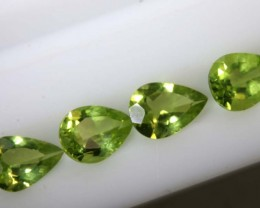 2.7CTS PERIDOT NATURAL FACETED PARCEL 4PCS TBG-2612