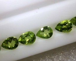 4.3CTS PERIDOT NATURAL FACETED PARCEL 6PCS TBG-2613
