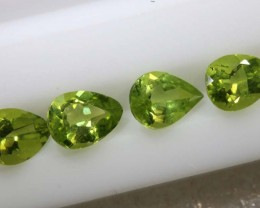 2.9CTS PERIDOT NATURAL FACETED PARCEL 4PCS TBG-2615
