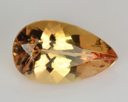 ~UNHEATED~ 1.51 Cts Natural Imperial Topaz Pear Brazil