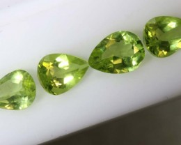 2.5CTS PERIDOT NATURAL FACETED PARCEL 4PCS TBG-2617