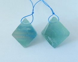 113ct Natural Fluorite Earring Beads For Lady(17110306)