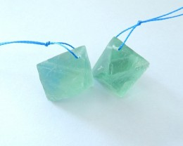 97ct Natural Fluorite Earring Beads For Lady(17110307)