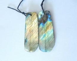 55.5ct Natural Labradorite Earring Beads(17110311)