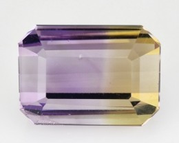 3.14 Cts Natural Ametrine Bi-Color Octagon Bolivia