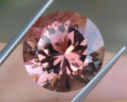 11.00cts, Pink Tourmaline, Precision Cut, Untreated,