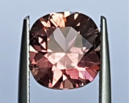 2.63cts, Certified Pink Tourmaline, Precision Cut, Untreated,
