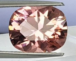 4.26cts, Pink Tourmaline, Precision Cut, Untreated,