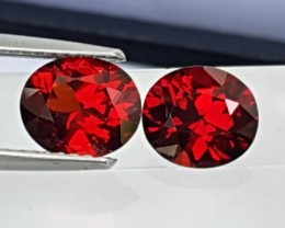 3.26cts, Red Spessartite Garnet, Precision Cut, Untreated,