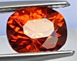 2.34cts, Mandarin Spessartite Garnet, Precision Cut, Untreated,