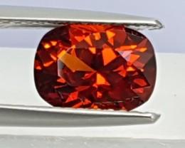 2.35cts, Mandarin Spessartite Garnet, Precision Cut, Untreated,