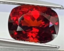 2.63cts,  Red Spessartite Garnet, Precision Cut, Untre