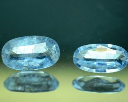 No Reserve 3.90 cts Deep Blue Aquamarine Gemstones Pair