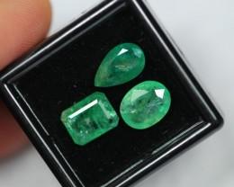 Lot 10 ~ 6.15Ct Natural Green Color Zambian Emerald