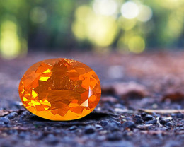 5.80 ct MEXICAN FIRE OPAL - MASTER CUT!  LOUPE CLEAN!