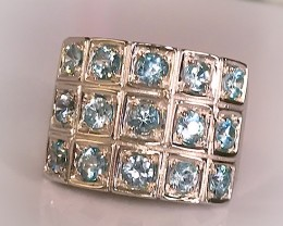 A Breath-taking Topaz Sterling Silver Ring Size 8