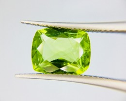 4.10 Crt Top Quality Pakistan Peridot  Faceted Gemstone