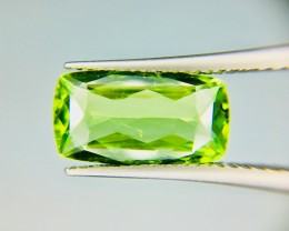3.75 Crt Top Quality Pakistan Peridot  Faceted Gemstone