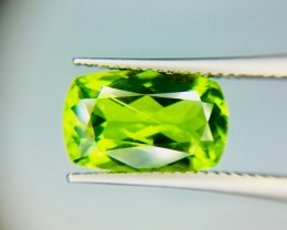 4.15 Crt Top Quality Pakistan Peridot  Faceted Gemstone
