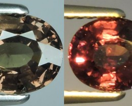 1.25 CTS-Fabulous Nice Quality Top Natural colour change Garnet Fine Gem