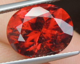 10.16cts Untreated Hessonite Garnet,  Precision Cut